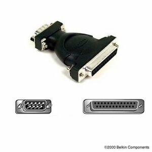 Belkin Adaptador de Conectores, bajo Perfil, DB9 Macho A DB25 Hembra