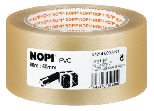 15 X NOPI® Packband 50,0 mm transparent PVC leise abrollbar transparent reißfest