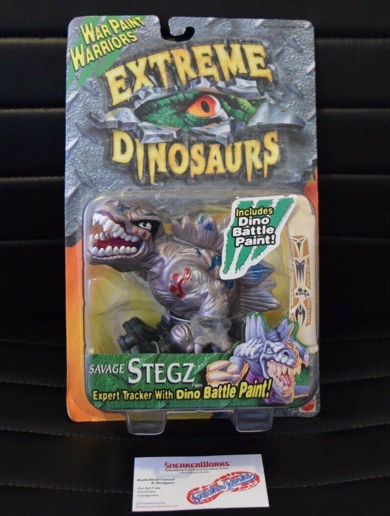 New årgång Mattel Extreme Dinosauris War Paint Stegz 1996 Åtgärd Figur 17744
