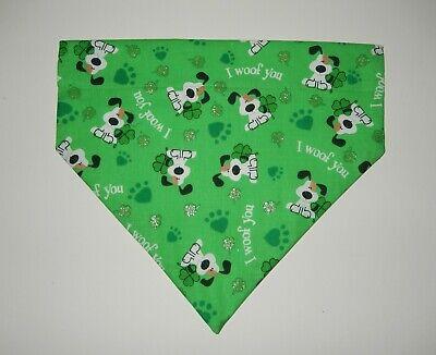 Feelin Lucky Scarf Cute Dog Accessories Dog Bandana Dog Clothes Green Dog Scarf Puppy Bandana St Patricks Day Dog Flannel Pet Bandana