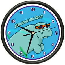 MANATEE Wall Clock florida sea cow marine life aquatic under water gag gift