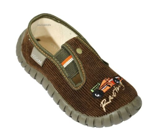 NURSERY SLIPPERS UK size 7-12 //EU 24-30 COOL TRAINERS BOYS CANVAS SHOES