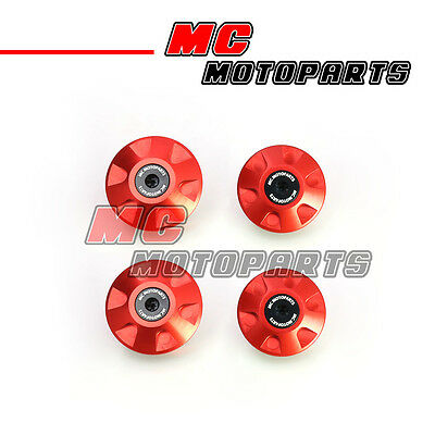 Red CNC Holes Frame Plugs Set For Ducati ST4 1999-2005 99 00 01 02 03 04 05