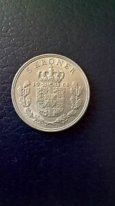 5-Kroner-Coin-1968-Denmark-King-Frederick-IX-Copenhagen-Copper-Nickel