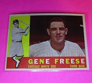 1960-Topps-435-Gene-Freese-White-Sox-NmMt-High-Grade-Sharp