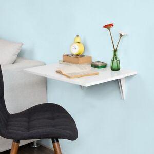 SoBuy® Tavolo da muro pieghevole,due supporti in ferro,bianco,FWT21 ...