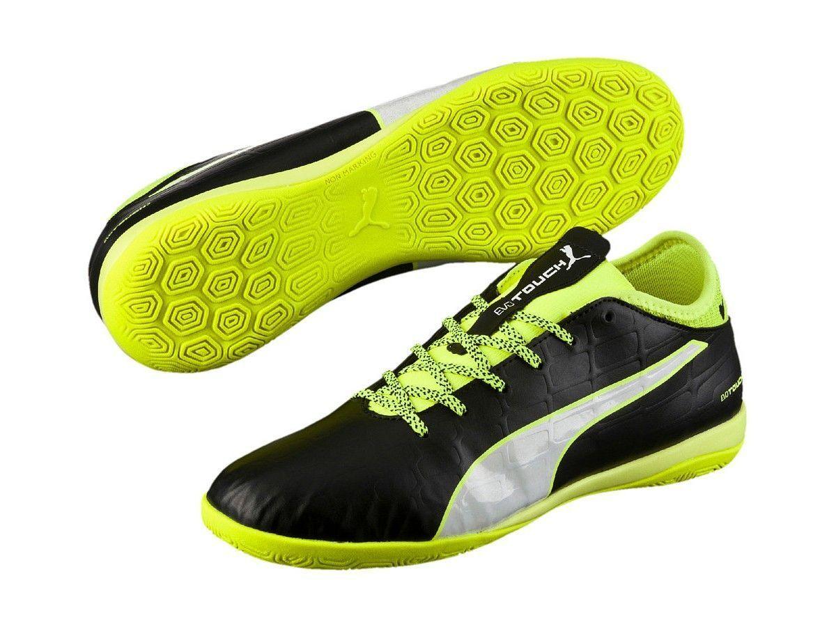 Puma evotouch 3 IT Uomo Nero Scarpe da ginnastica di calcio Indoor scarpe sportive