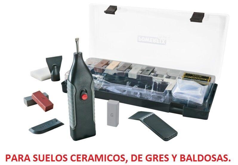 KIT DE REPARACION DE SUELOS CERAMICOS, GRES, blueEJO, BALDOSAS, PLASTICO, GRIETA