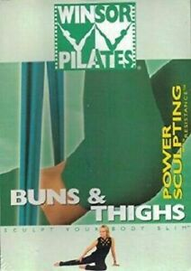WINSOR-PILATES-BUNS-AND-THIGHS-POWER-SCULPTING-RESISTANCE-DVD-R-ALL-LIKE-NEW