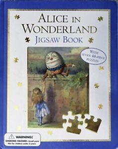 NEW! Unopened Alice In Wonderland JIGSAW BOOK With Seven 48-Piece Puzzles