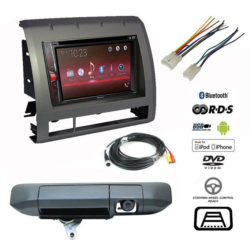 pioneer double din bluetooth usb stereo+backup camera ... toyota radio wiring of usb back toyota stereo wiring diagram usb