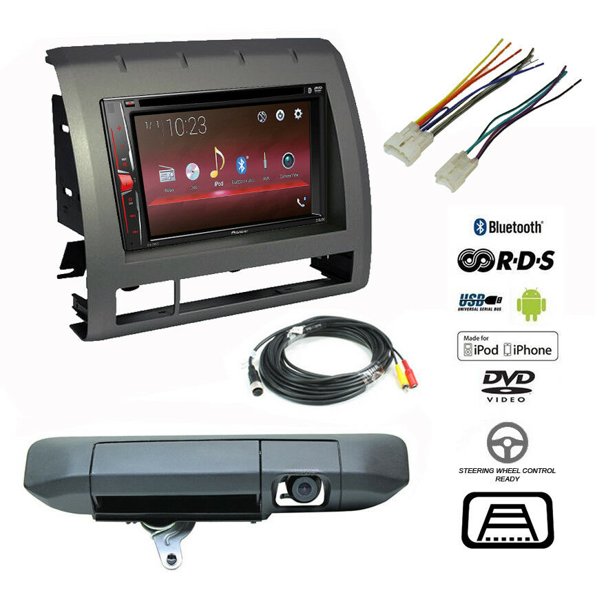 toyota radio wiring of usb back pioneer double din bluetooth usb stereo+backup camera ... #2