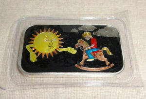 Sunshine-Day-to-Night-Enameled-Black-1-oz-999-Silver-Bar-CMG-Mint