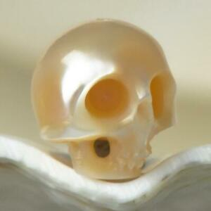 9-64-mm-Human-Skull-Bead-Carving-Natural-Peach-Freshwater-Pearl-1-01-g-drilled