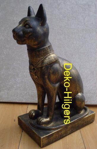 Ägyptische Katze Figur Bastet Skulptur Dekoration Deko Stuckgips  2801 Fa9