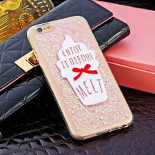 Ice Cream Liquid Quicksand Soft Bling Glitter Case Cover For iPhone 5s 6 6S Plus