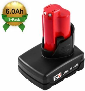 12V-6000mAh-Lithium-ion-Replacement-for-Milwaukee-M12-Cordless-Drill-Batteries