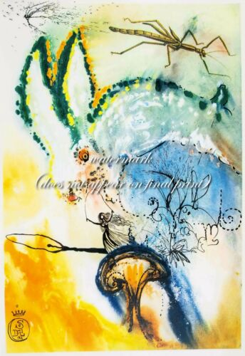 """SALVADOR DALI Alice in Wonderland #6 CANVAS OR PAPER PRINT Sizes A3 to 18x24/"""""""