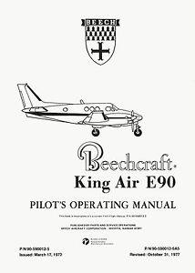 BEECH-KING-AIR-E90-PILOT-039-S-OPERATING-MANUAL-AND-FAA-APPROVED-FLIGHT-MANUAL