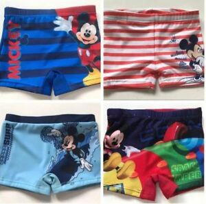 Assorted-Mickey-Mouse-Boys-Baby-Toddler-Kids-Child-Swim-Shorts-Swimmers-Bathers
