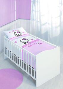 Detalles De Hello Kitty Baby Ropa De Cama Rosa Blanco 40 X 60 Y 100 X 135 Cm Ver Título Original