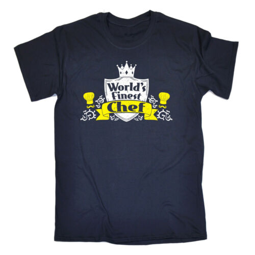 Worlds Finest Chef T-SHIRT Cook Mum Dad Master Kitchen Sous Gift birthday funny