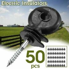 50pcs Center Ring Insulators Electric Fencing Fence Screw Posts Wire Kit 49cm