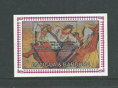 1984 150th Anniversary Edgar Degas Mini Sheet Complete Muh/mnh As Issued Consumers First Antigua & Barbuda (1981-now)