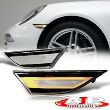 Clear Led Turn Signal Side Marker Light Lamps For Porsche 911 Carrera 718 Cayman