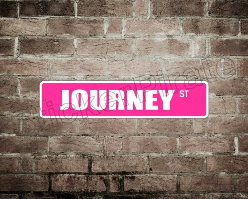 """*Aluminum* Journey 4/"""" x 18/"""" Metal Novelty Street Sign  SS 2026"""