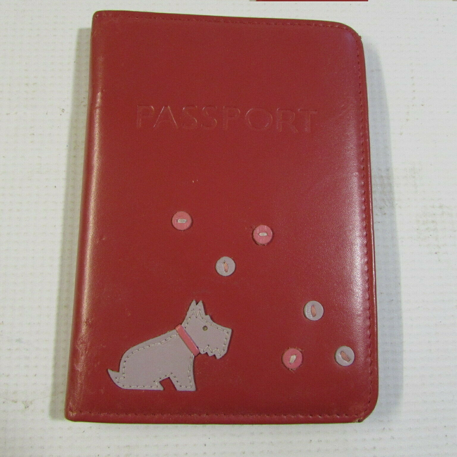 **LOOK** Nice RADLEY Red Leather Passport Holder FREE P+P