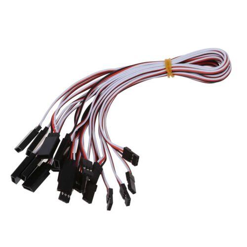 10x 340mm Servo Extension Cable cables torsades/_x000D/_ X9C6