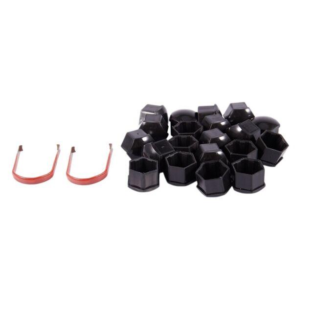 20pcs 17mm Car Plastic Caps Bolts Covers Nuts Alloy Wheel For Skoda, Audi,  C1L1