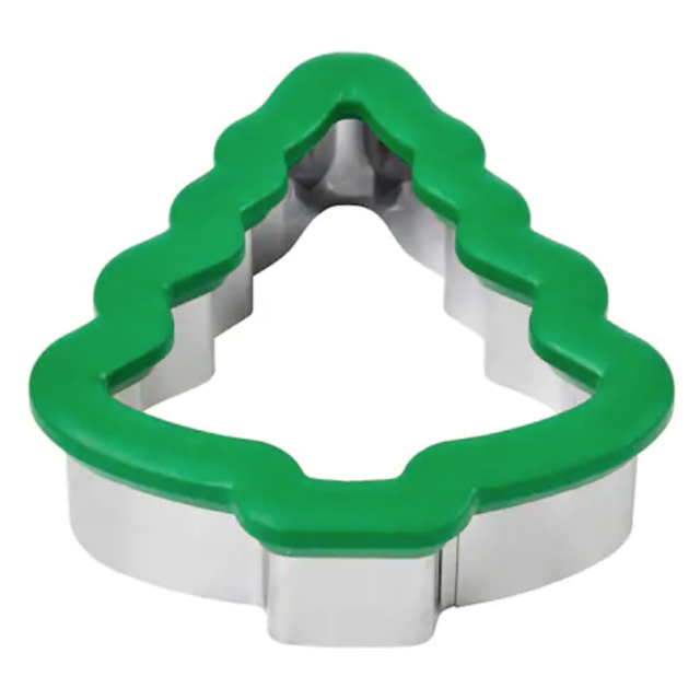 Wilton Christmas Tree Comfort Grip Stainless Steel Cookie Cutter