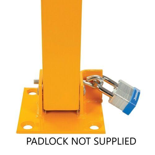 SILVERLINE FOLD DOWN PARKING BARRIER SECURITY POST BOLLARD LOCKABLE 377185