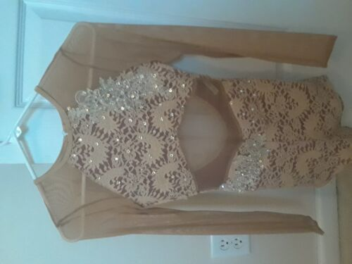Dance Costume Nude lace unitard