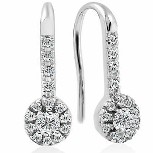 1 4ct Diamond Earrings White Gold