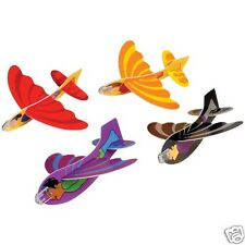 12 Superhero Foam Gliders Air Plane Toy Party Goody Loot Bag Favor Supply