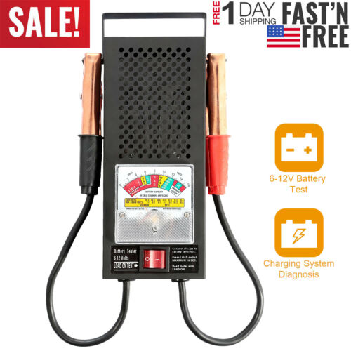 Automotive Repair Copper Clips Carrying Handle 6-12v 100A Battery Load Tester US