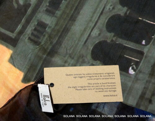 "ITALCA of Italy Sheer Printed Silk Oversize Scarf Shawl Wrap 49 x 69/"" New"