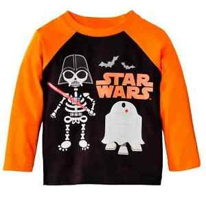 af77326ba Star Wars Infant Toddler Boys Orange Black Darth Skeleton Halloween ...