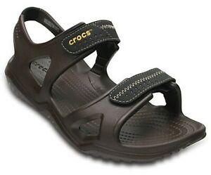 Mens-Crocs-Swiftwater-River-Adjustable-Lightweight-Brown-Walking-Summer-Sandals