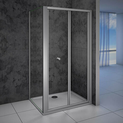 Bifold Shower Enclosure Walk In 5mm Safety Glass Door Panel Cubicle