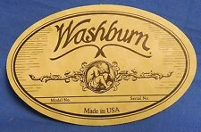 GENUINE WASHBURN MADE IN USA MODEL AND SERIAL NUMBER SOUND HOLE LABEL