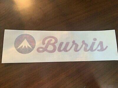 "Burris optics vinyl decal logo sticker 8.0/"" x 3.0/"" red black white NEW"