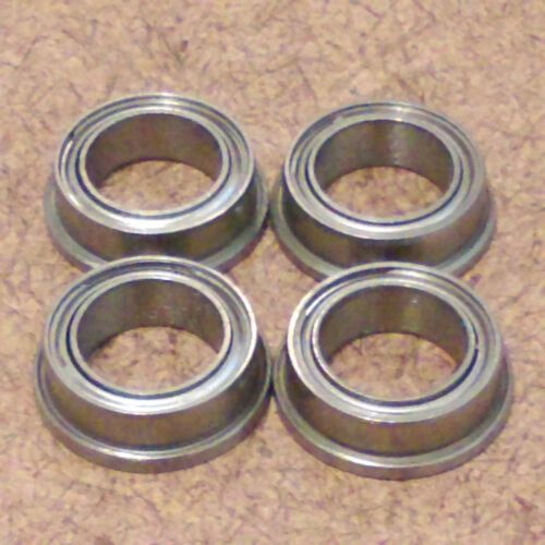 3//16 inch bore.4 Radial Ball Bearing.FLANGED. 3//16 X 5//16 X 1//8 .Lowest Friction