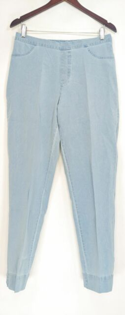 Isaac Mizrahi Live! Women's Jeans Sz 12T Tall 24/7 Ankle Length Blue A306940