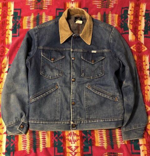 Vintage 70's maverick lined denim jacket 42