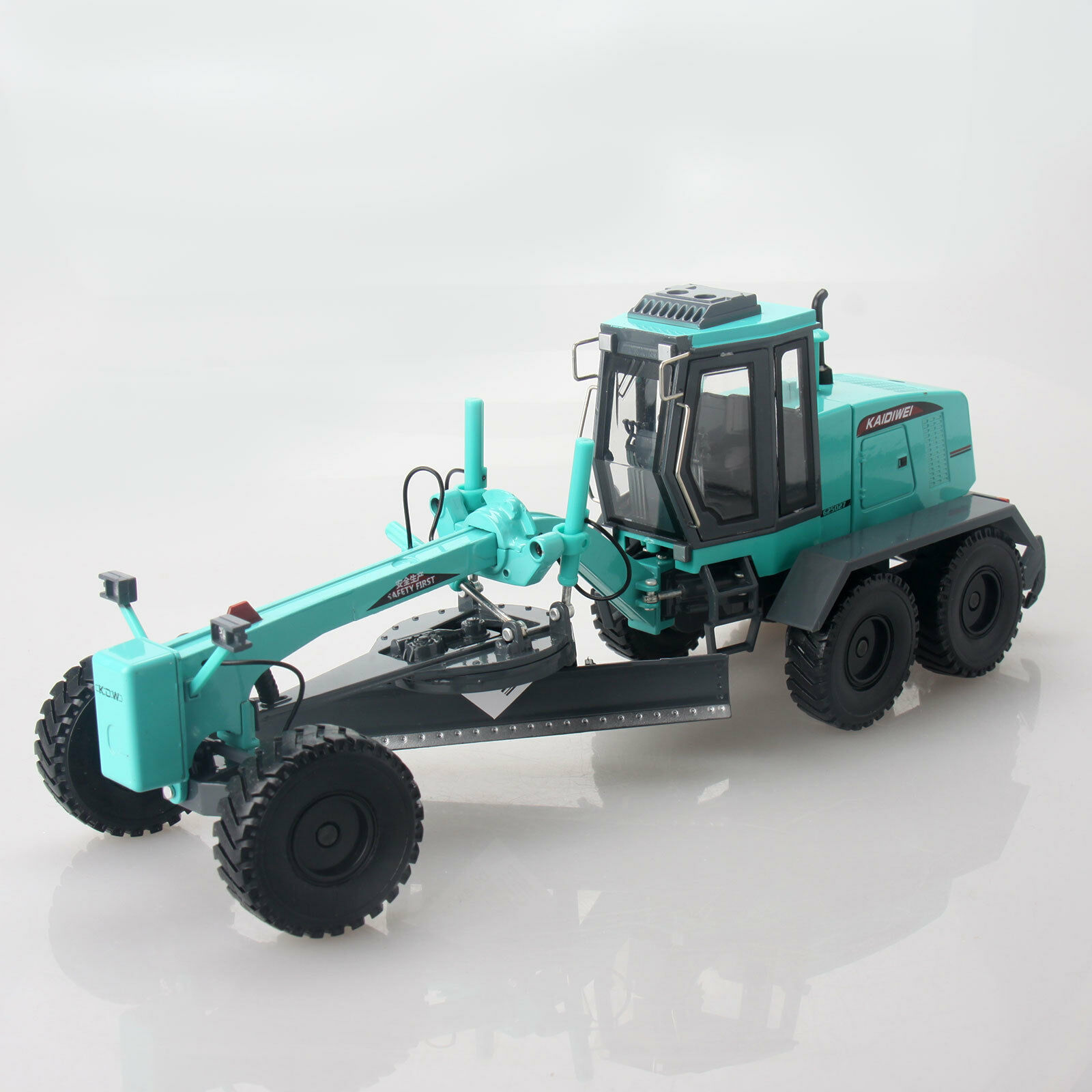 Diecast Motor Grader 1 35 Scale Heavy Construction Vehicle Model Turquoise