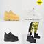 Buffalo-London-CLASSIC-PELLE-NABUK-BASSA-Bianche-Nere-Beige-Platform-Sneakers miniatura 1